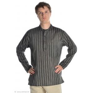 Fischerhemd schwarz-weiß gestreift
