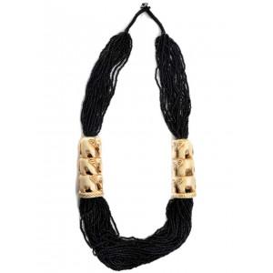 Perlenkette Weatreis schwarz