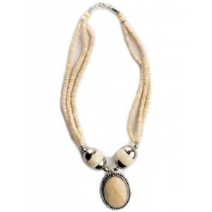 Halskette Beda beige