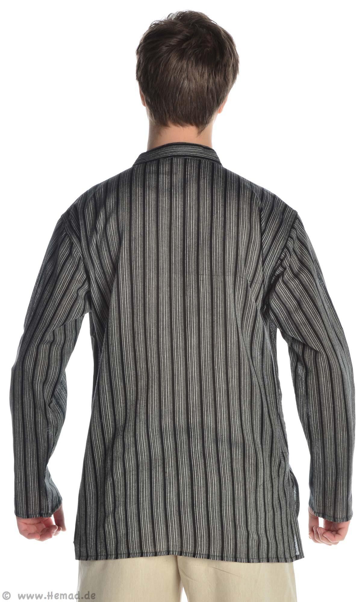 fischerhemd schwarz wei gestreift. Black Bedroom Furniture Sets. Home Design Ideas