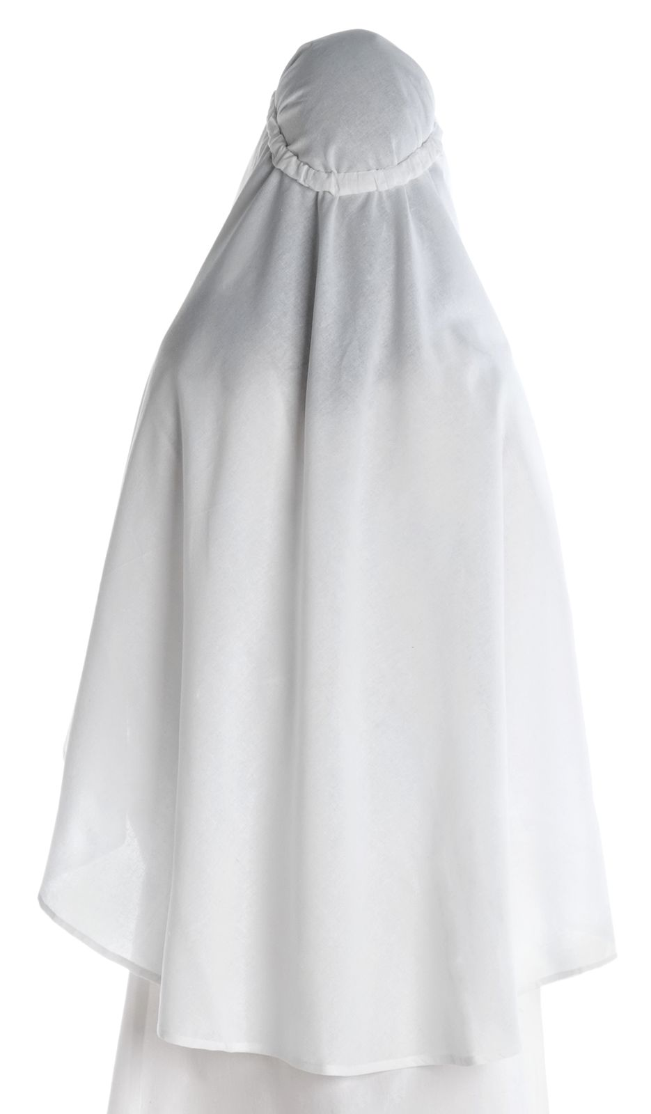 SchwarzHEMAD Gewandung LARP Mittelalter Schleier Vör aus Baumwolle Weiß